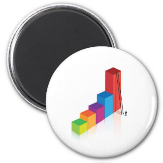 desafío personal de la escalera del gráfico imán redondo 5 cm