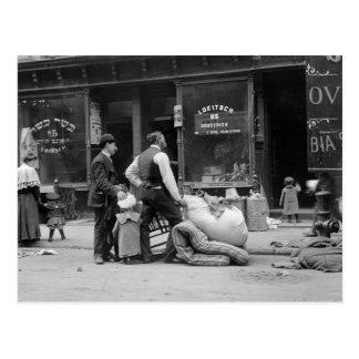 Desahucio de la zona este, NYC, 1900s tempranos Postal