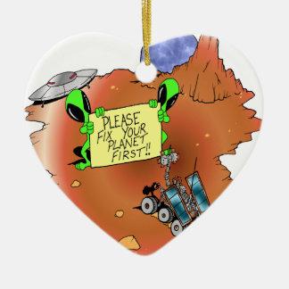 Desahucio extranjero adorno de cerámica en forma de corazón
