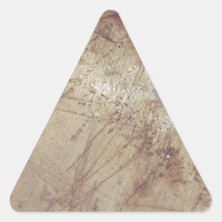 desaliñado en la tierra mojada pegatina trianguladas personalizadas