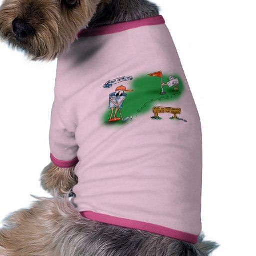 Desalojo urgente abierto - golf camiseta con mangas para perro