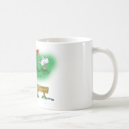 Desalojo urgente abierto - golf taza de café