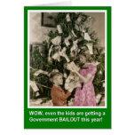 Desalojo urgente del navidad para los niños tarjetón
