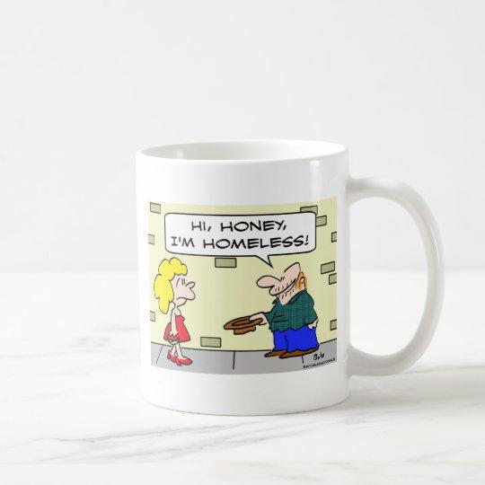 desamparados de la miel del panhandler hola taza de café
