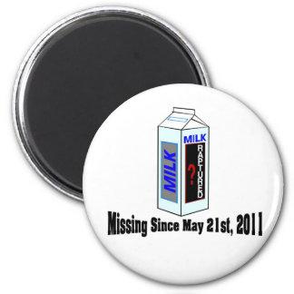 Desaparecido del cartón de la leche del éxtasis imán redondo 5 cm