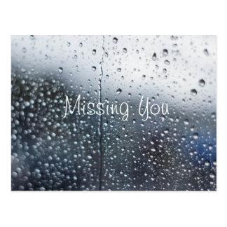 Desaparecidos adaptables que usted llueve tarjeta postal