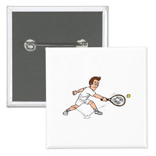 Desaparecidos del individuo del tenis pin cuadrada 5 cm