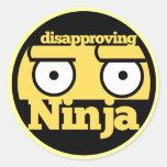 Desaprobación Ninja Pegatinas Redondas