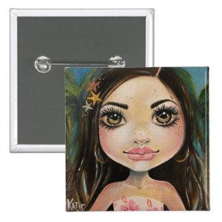 Desaree the Doll, Faerie Minnie, Kim Turner Art Button