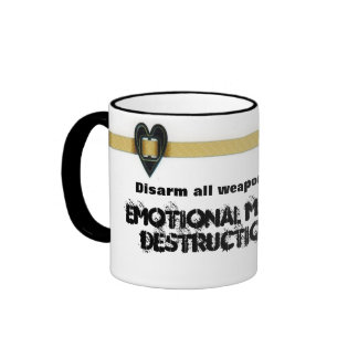 Desarme taza de la destrucción total emocional
