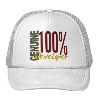 Desarrollador auténtico gorras