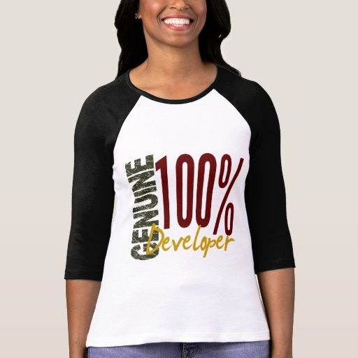 Desarrollador auténtico t shirt