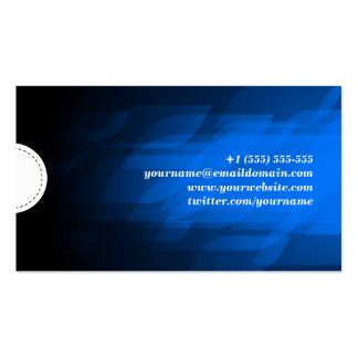 Desarrollador de Web - azul marino moderno Tarjetas Personales