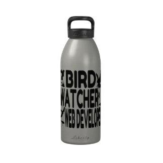 Desarrollador de Web del vigilante de pájaro Botellas De Agua Reutilizables