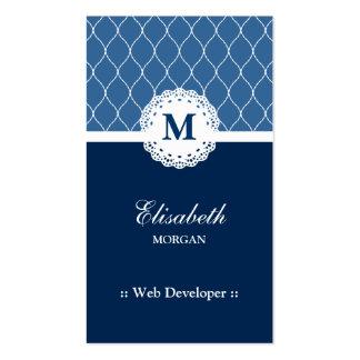 Desarrollador de Web - modelo azul elegante del co