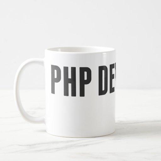 Desarrollador del PHP Tazas