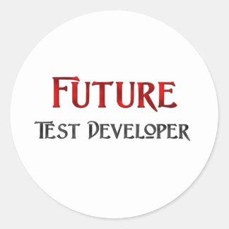 Desarrollador futuro de la prueba etiqueta redonda