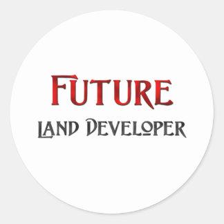 Desarrollador futuro de la tierra pegatina redonda