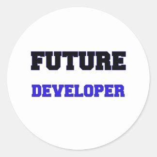 Desarrollador futuro etiqueta redonda