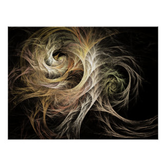 Desarrolle el fractal de la llama póster