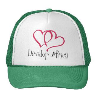 Desarrolle los corazones de África Gorro