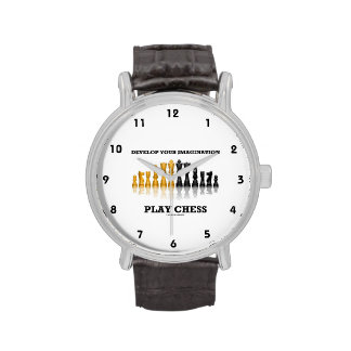 Desarrolle su ajedrez del juego de la imaginación relojes de pulsera