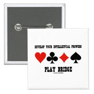 Desarrolle su puente intelectual del juego del val pin