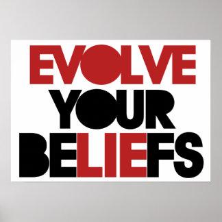 Desarrolle sus creencias posters