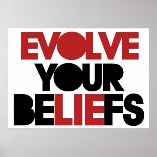 Desarrolle sus creencias póster