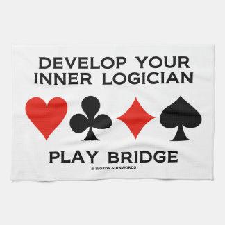 Desarrolle sus juegos internos de la tarjeta del p toallas de mano