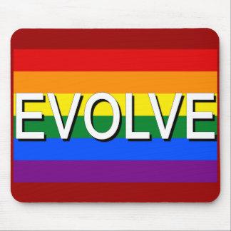 DESARRÓLLESE con la bandera del orgullo gay para l Tapetes De Raton