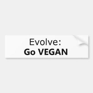 Desarróllese: Va el vegano Etiqueta De Parachoque