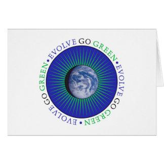 Desarróllese van verde tarjeta de felicitación