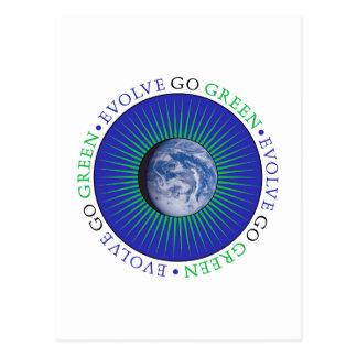 Desarróllese van verde tarjetas postales