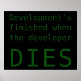 Desarrollo acabado cuando muere el promotor póster