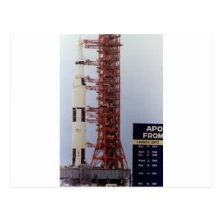 Desarrollo de la NASA Apolo 15 Saturn V Tarjeta Postal