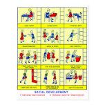 Desarrollo social de la escuela retra del kitsch d tarjeta postal