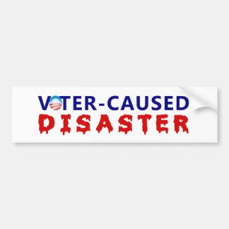 Desastre causado votante pegatina para auto