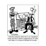 Desastre del guardarropa debido al virus de postal