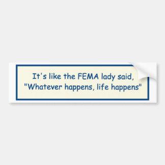 Desastre natural del FEMA Pegatina Para Auto
