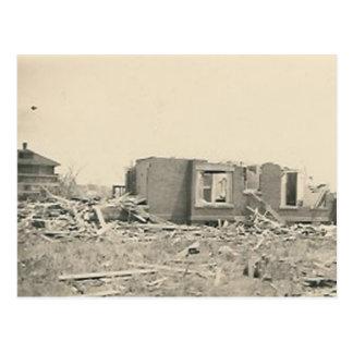 desastre natural destruido casa tarjetas postales