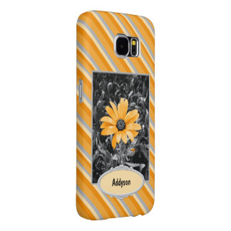 Desaturated Spring Flash African Daisy Photograph Samsung Galaxy S6 Case