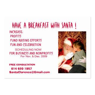 Desayune con Santa Tarjetas De Visita Grandes
