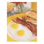 Desayuno 2 tarjeta postal