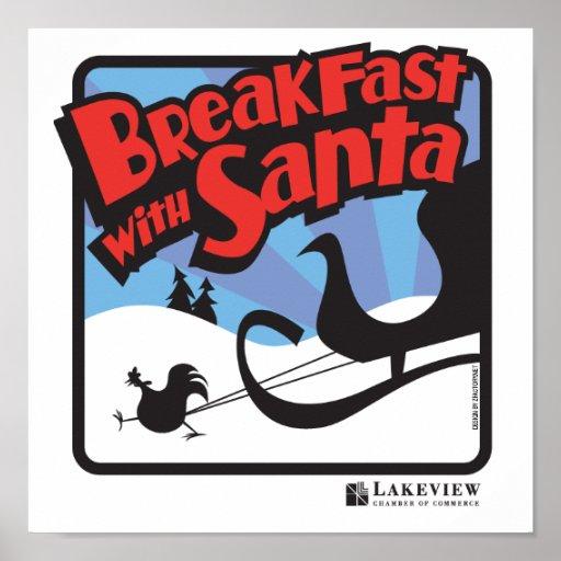 Desayuno con el poster 2009 de Santa