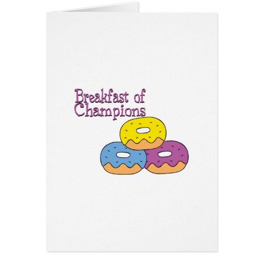 Desayuno de campeones tarjeton