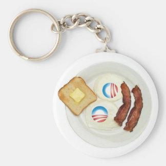 Desayuno de Favorable-Obama 2012 Llavero Redondo Tipo Pin
