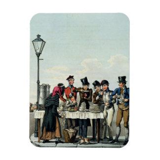 Desayuno de la calle grabado por G.Hunt, 1825 (eng Imán