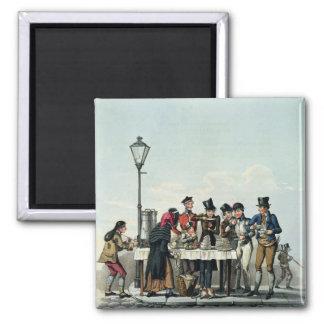 Desayuno de la calle grabado por G.Hunt, 1825 (eng Imán Cuadrado
