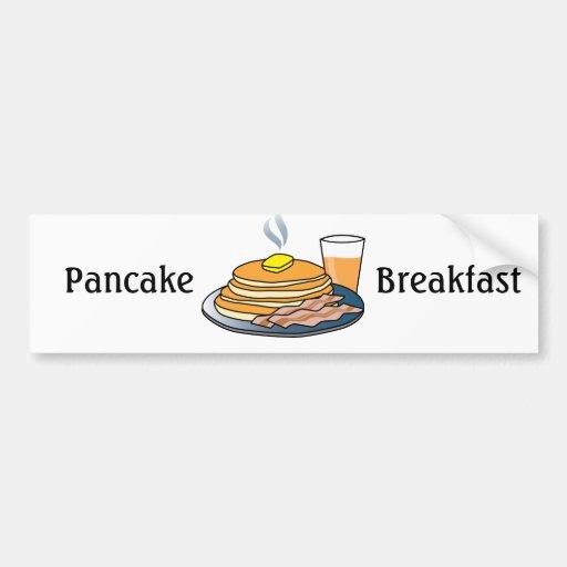 Desayuno de la crepe de la recaudador de fondos de etiqueta de parachoque